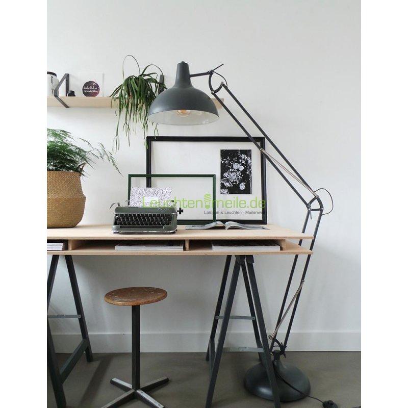 industrielle stehlampe bronq office xxl wei 180cm von steinhauer 130 90. Black Bedroom Furniture Sets. Home Design Ideas