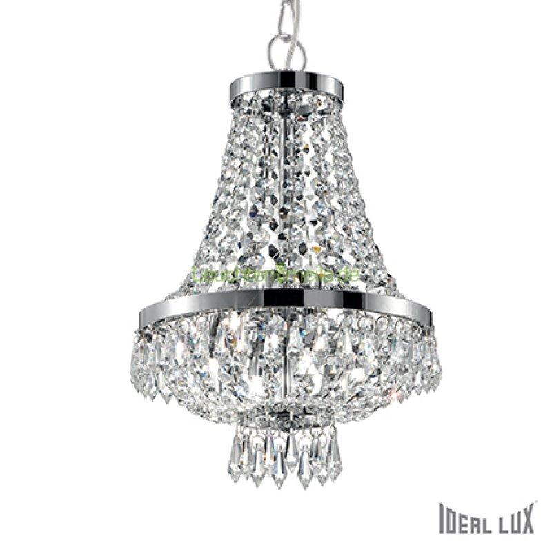 Caesar sp4 cromo leuchte als kronleuchter mit kristallen von ideallux 282 03 - Kronleuchter mit kristallen ...
